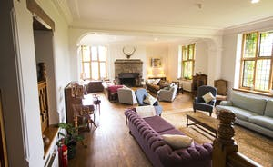 Bossington Hall - Sit by the fire and chat, or gather round the piano for a sing song
