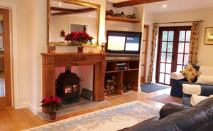 Large lounge area with woodburner, widescreen TV, Sky TV (inc movies & sports)