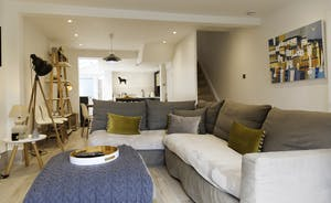Overview of open plan living space