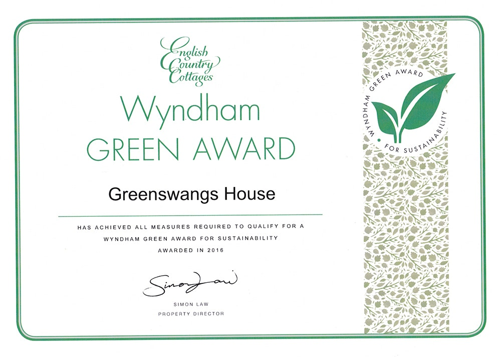 Scottish Country Cottages Green Award