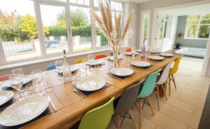 Sandfield House - Dine together in the light and airy orangery