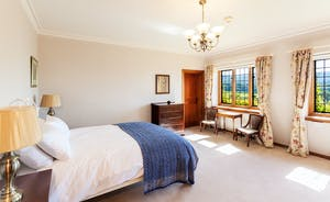 Bossington Hall - Farley Water Bedroom - 1930's styling in this commodious room - with spectacular views