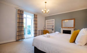 Sandfield House - Bedroom 2 opens onto a balcony - a wonderful spot for morning coffee
