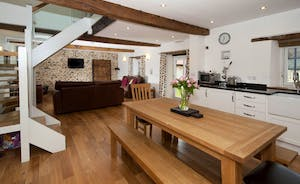 Wagtail Corner, Stonehayes Farm: A fresh and stylish open plan living space on the ground floor