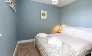 The Plough - Bedroom 3: A double room with soothing blues