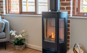 Whimbrels Barton - Bean Goose Barn: A wood-burner keeps you cosy on colder days and nights