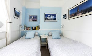 Second bedroom can be made up as a twin or king-size bed