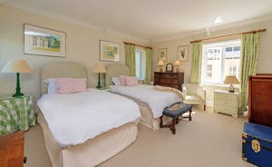 Asham House - Bedroom 5 is in the Coach House and has zip and link beds (superking or twin)