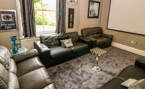 Peak Manor - A black and white theme in the Cinema Room