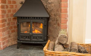 The Old Rectory - Logs are provided for the wood burning stove - perfect for cosy gatherings on those chillier days and nights