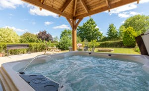 The Plough - The covered hot tub can be used anytime of year
