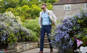 Guest walking onto croquet lawn