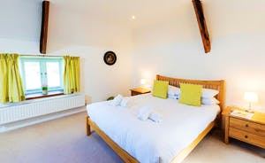 Whinchat Barns - Dippers Rest: Bedroom 1, on the first floor with a kingsize bed