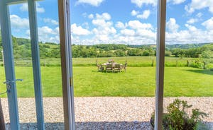 Dippers Rest, Stonehayes Farm - French doors open onto the garden area and miles and miles of open fields