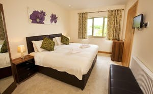 Crowcombe -  Bedroom 2 - on the ground floor with an en suite shower room