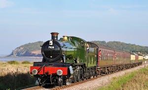The West Somerset Steam Railway Trains run past Railway Cottage