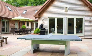 Cockercombe - a game of outdoor ping-pong is such fun!