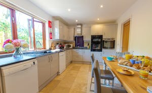 Thorncombe - The kitchen has plenty of cupboard space and all you need to cook and prepare meals