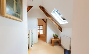 Siskins Nook, Stonehayes Farm - The bedrooms are on the first floor,  left and right of the central staircase