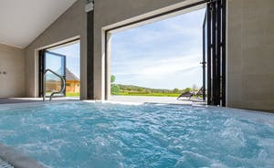 Shires - The hot tub is indoors so can be used year round