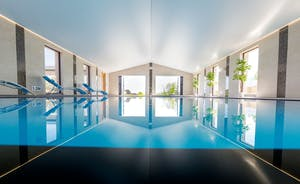 Shires - A very impressive spa hall with infinity pool, hot tub and sauna