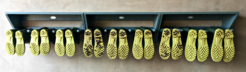 TCB's line-up of Wellington Boots for guests to borrow