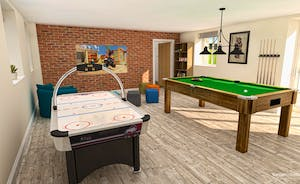 Croftview - The spacious games room will have air hockey, a pool table and a big TV