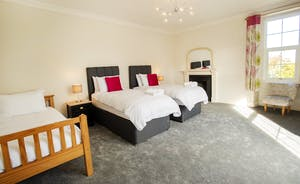 Sandfield House - Bedroom 3 sleeps 3 in a superking and a single bed, or three singles
