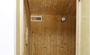 Sauna in the garden room
