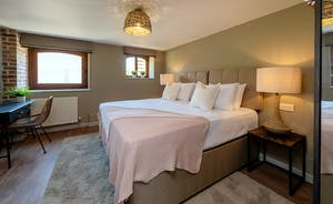 Whimbrels Barton - Bean Goose Barn: Bedroom 3 is on the ground floor and has zip and link beds