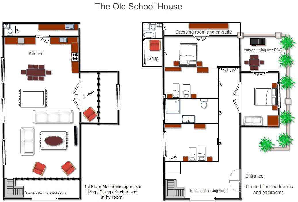 house layout planner floorplans school house suffolk shortbreaks 12450