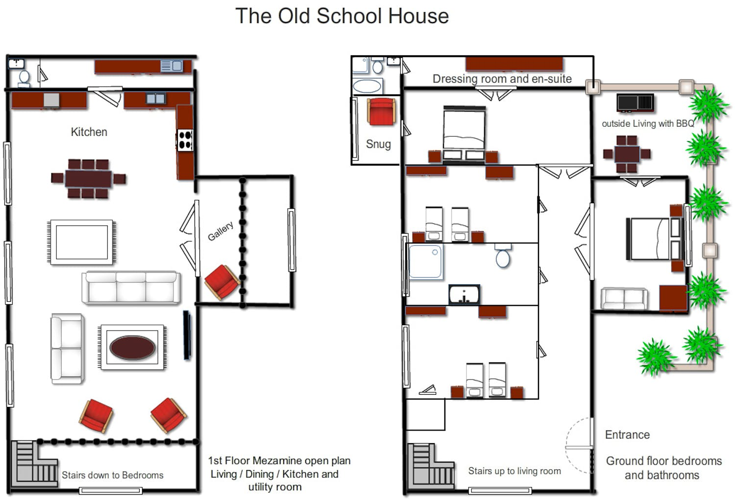 Floorplans old school house suffolk for Old school house plans