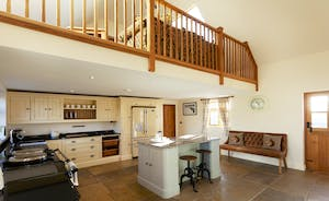 Bumblebee: the kitchen, with galleried snug above