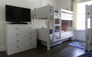 Bedroom 5 on first floor - double bunk room with TV & games console