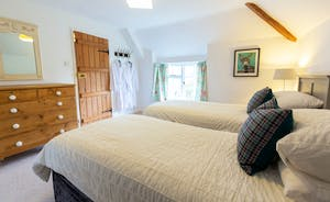 Frog Street: In the Orchard Suite Bedroom 2 has zip and link beds and is accessed via Bedroom 1