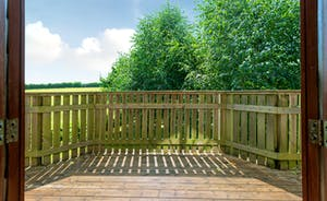 Treehouse decking - perfect for an evening drink catching the sun as it sets