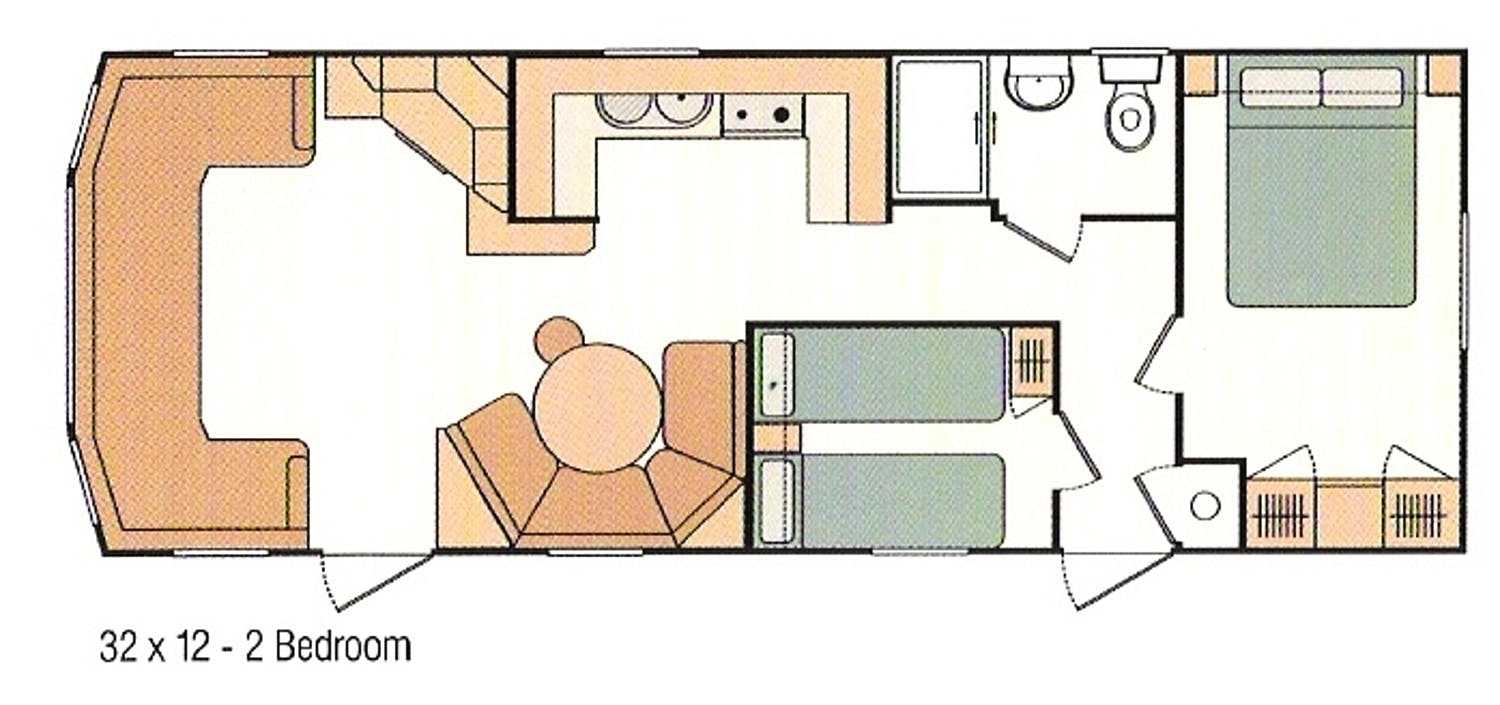 Floorplans Luxury Static Caravan In Porthilly Rock Cornwall West Country Beach Holidays