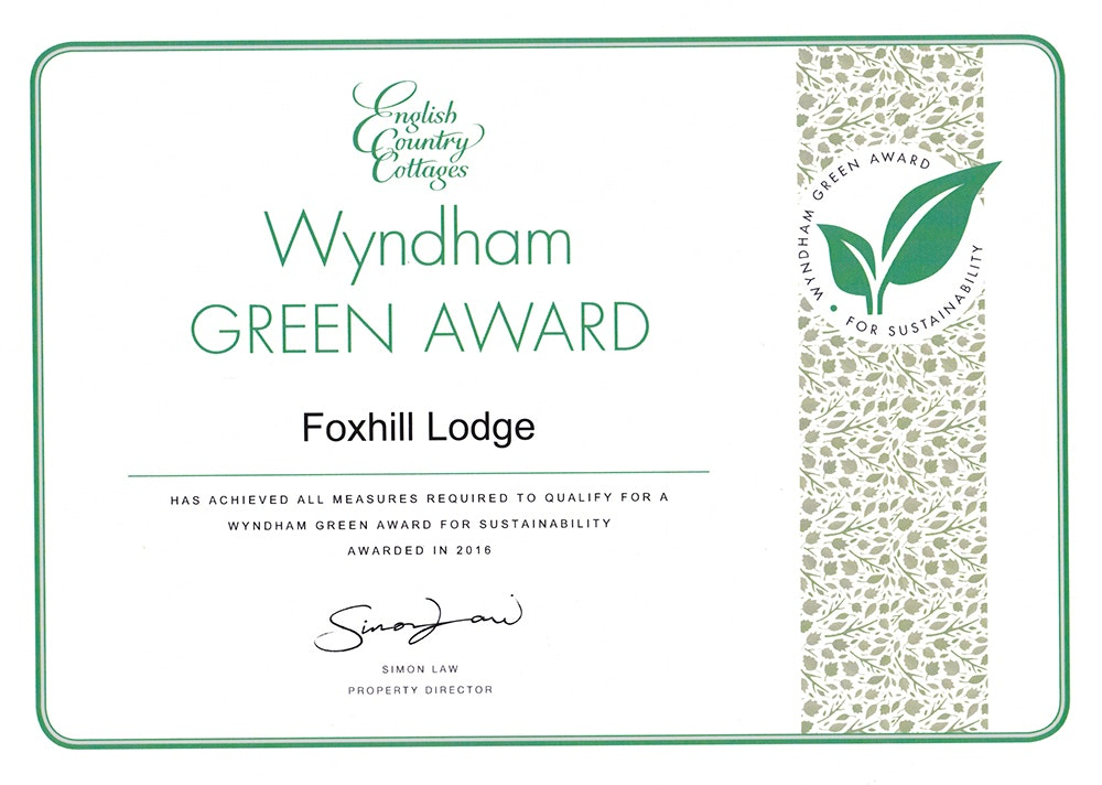 English Country Cottages Green Award