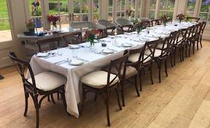 Wedding breakfast in the Orangery