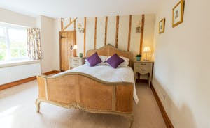 Frog Street - Garden Room - Bedroom 3 has a gorgeous king size French bed and an en suite bathroom