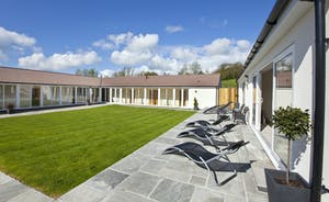 Holemoor Stables: Luxury holiday accommodation set around a lawned courtyard