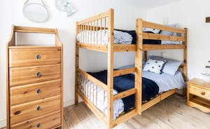 Cheerful second bedroom with bunkbeds