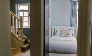 Twin bedroom and hallway