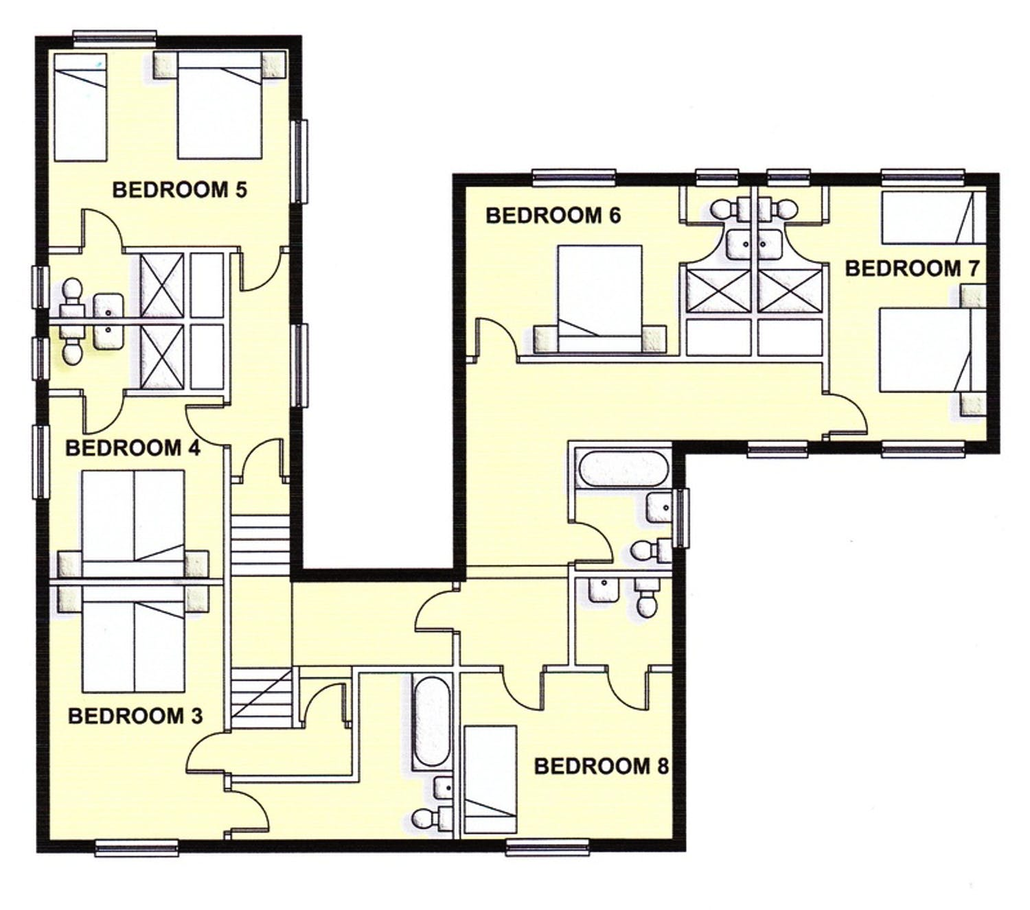 Floorplans viney hill country house gloucestershire for Country house plans uk
