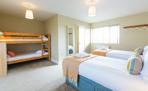 The Plough: Bedroom 1 is a great family room, with bunk beds as well as the zip and link
