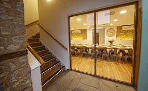 Beaverbrook 30 - The Granary Barn: step into a spacious lobby; stairs take you to the home cinema room and games room