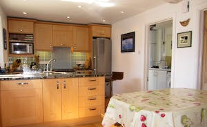 Spacious well-equipped kitchen ....