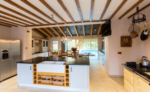 entertain in beautiful shaker kitchen
