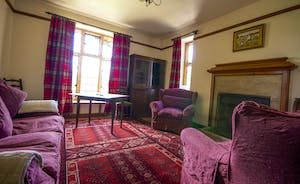 Bossington Hall - The cosy Card Room on the ground floor