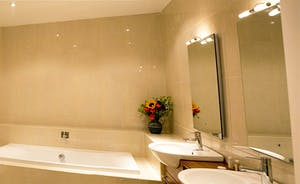 The Old Rectory - The Billington en suite bathroom - with a bath and a separate shower